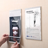 Advertising Poster Inserted Acrylic Elevator Wall Hanging Sign Holder