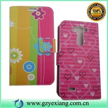 For LG G3 Beat mobile phone Case, Leather Wallet Case For LG G3 Beat