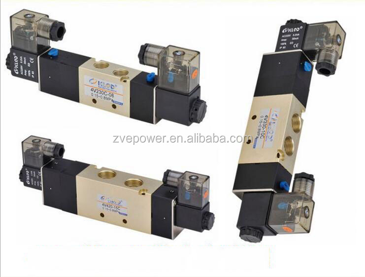 2017 4V Double electric control for pneumatic solenoid valve / Five three-position gas control valve components