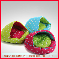 New product cute indoor pet sleeping bag bed soft dog house