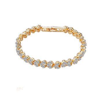 Fashion products heart shaped crystal diamond luxuries gold bracelet for women designs