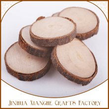 Natural wood color wood slices recyclable round shape wood pieces craft