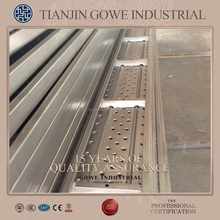 Perforted scaffolding metal plank galvanized steel deck walk board for sale