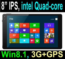 Cheapest Factory 8 inch intel Quad-core Windows Tablet pc with 3G GPS free windows8.1 licence