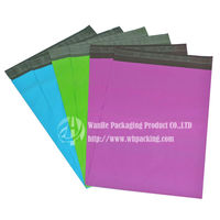 Wholesale printed poly mailer bags pe plastic carrier bag