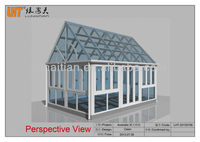 China manufacture or of PVC sunroom aluminum sunroom with tempered double glass at cheap price