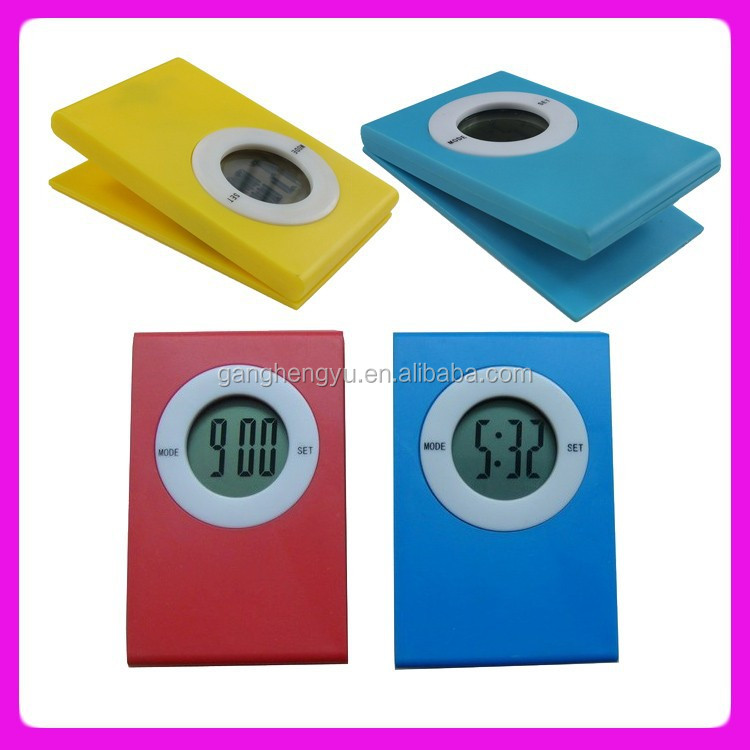 Name Card Clip Paper Table Mini Digital Promotional Clock