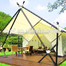 2018 Factory Wood frame Hotel tent Luxury Glamping Canvas Tent