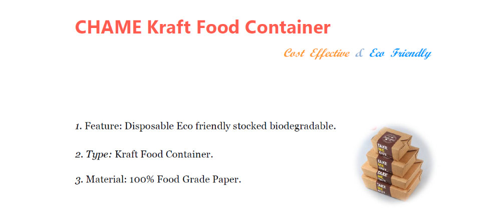 kraft salad takeaway food container