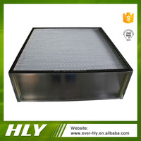 Chinese supplier air filter aluminium foil separator box deep pleated hepa filters