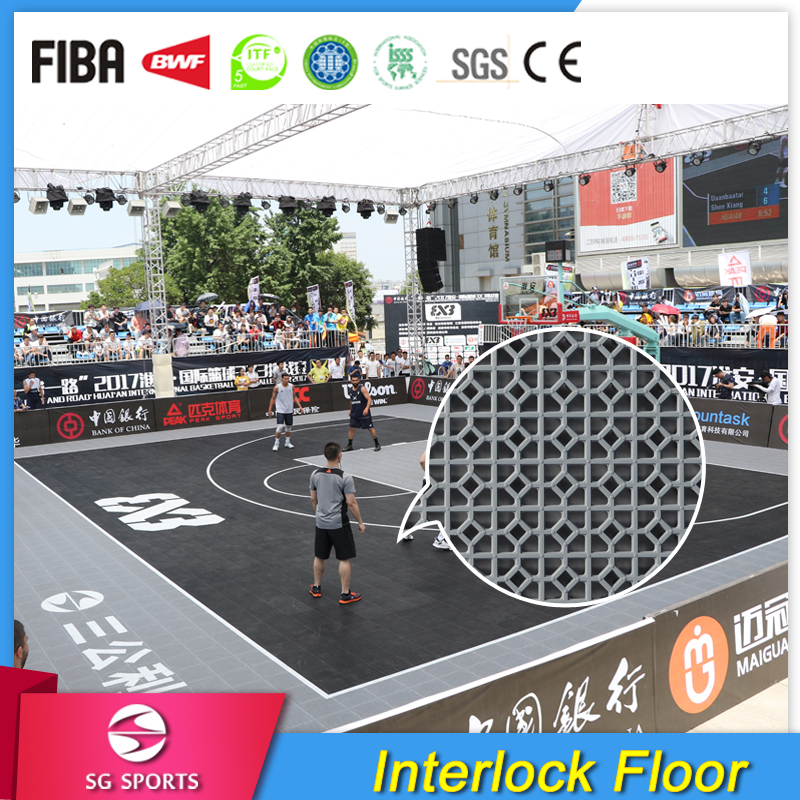 SG Sports Outdoor Plastic Basketball Court Flooring Prices