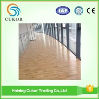 Wood woven interior sport flooring plastic PVC flooring