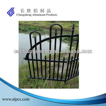 Black Fence End Panel/End Panel