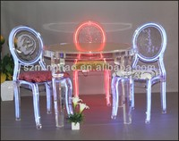 acrylic furniture , folding acrylic dining table and LED chair