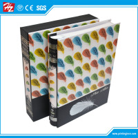 Adhesive paper book type brochure/photo album