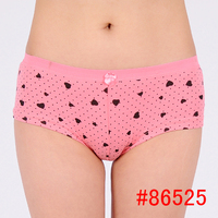 Black dotted teen girl panties young girls underwear panties bulk