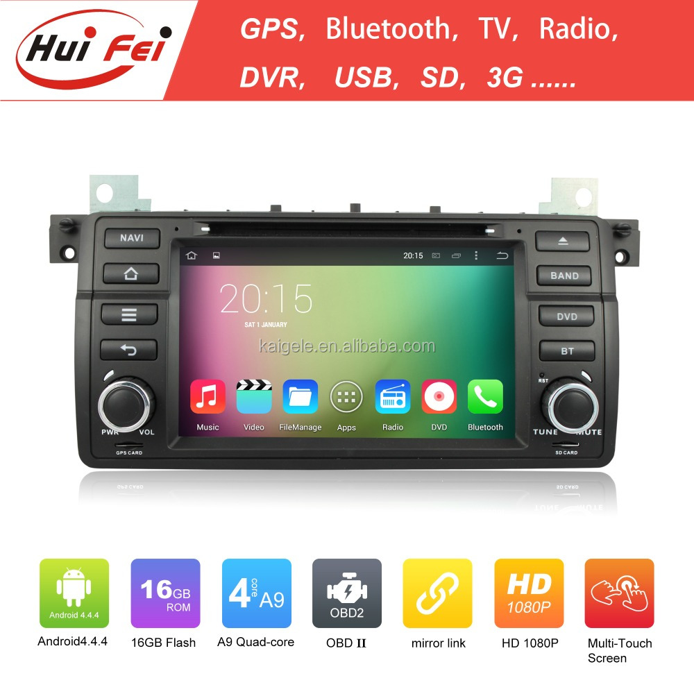 2015 newest android car dvd player for bmw e46 car navigation support 3g wifi bt tv video
