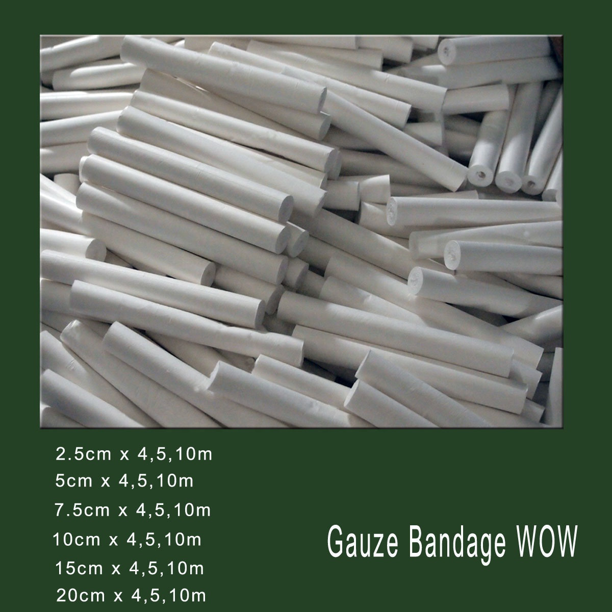 CE,FDA,ISO13485 Approved Medical surgical Cotton Gauze Bandage manufacturer