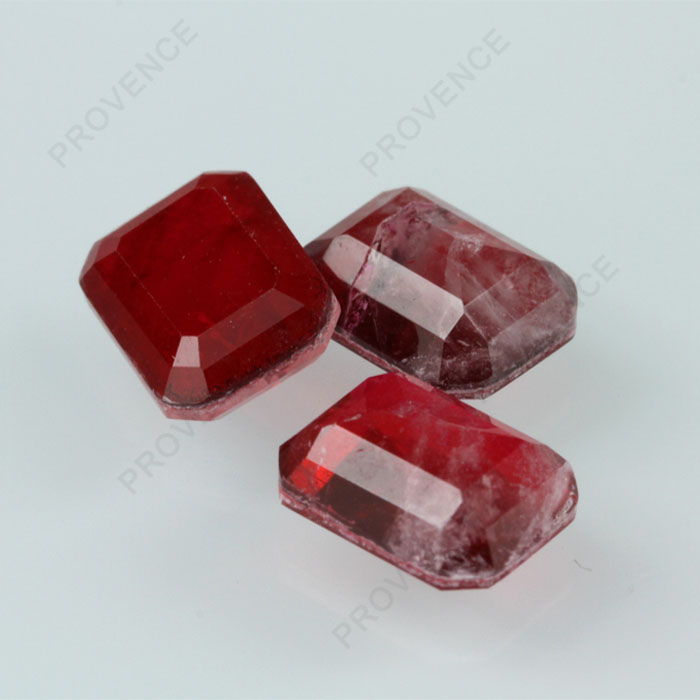 Hot Sale Octagon Emerald Cut Wholesale Imitation natural Ruby Loose Gemstone