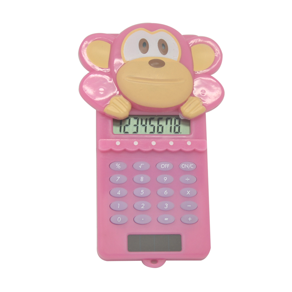 Promotion Solar Power 8 Digit Cute Cartoon Kids Calculator