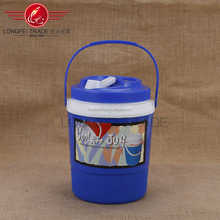 Hot sale Blue background with floral The thermal insulation kettle with plastic Handle&Lock