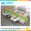 Latest office furniture table designs long benching desks staff partition office workstation for 8 person HL-10