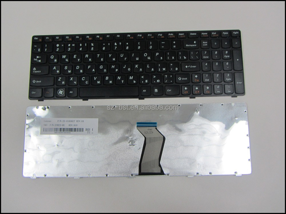 NOTEBOOK KEYBOARD For Lenovo IdeaPad G580 G585 G780 Z580 Z580A Z585 Z780 V580 black RU keyboard