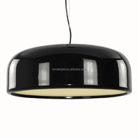 modern hanging black aluminum contemporary pendant lamp for restaurant project