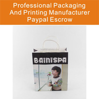 Custom Made Printed Paper Bags With Twisted Paper Handle