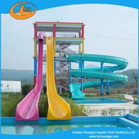 Water park fiberglass water slide for sale