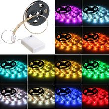 Battery Powered Led Strip Lights Waterproof Flexible LED Light Strips SMD 5050 RGB LED Ribbon Light with Mini Controller