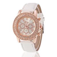 5104 Drop Shipping Casual Women Leather Watch Best Women's Watch Brands Crystal Diamond Analog Leather Quartz Wrist Watch