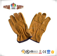 FTSAFETY yellow cow split leather JAPAN TYPE safety working glove