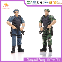 Cheap 3D soldier figures plastic toy with military weapon army