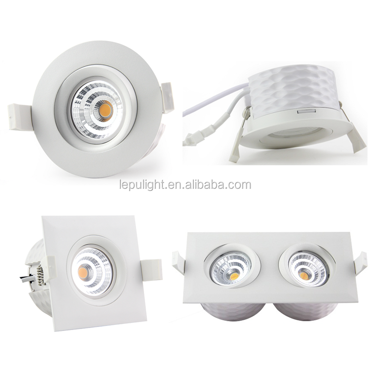 LEPU GYRO Swan-18v-9w COB downlight IP44 95Ra dim warm 1800-2700k ACtec driver 5 yrs warranty