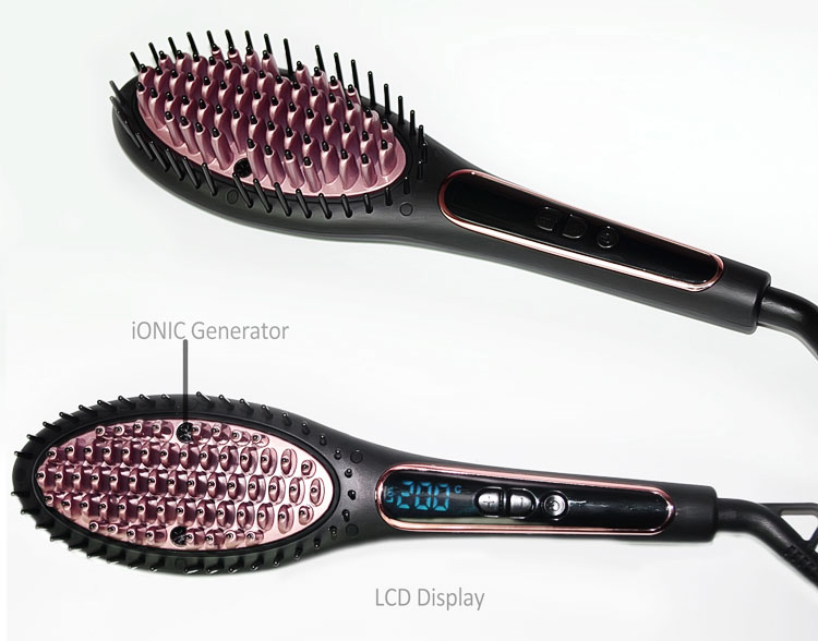 HANA Anti scald brush teeth electric hair brush styler