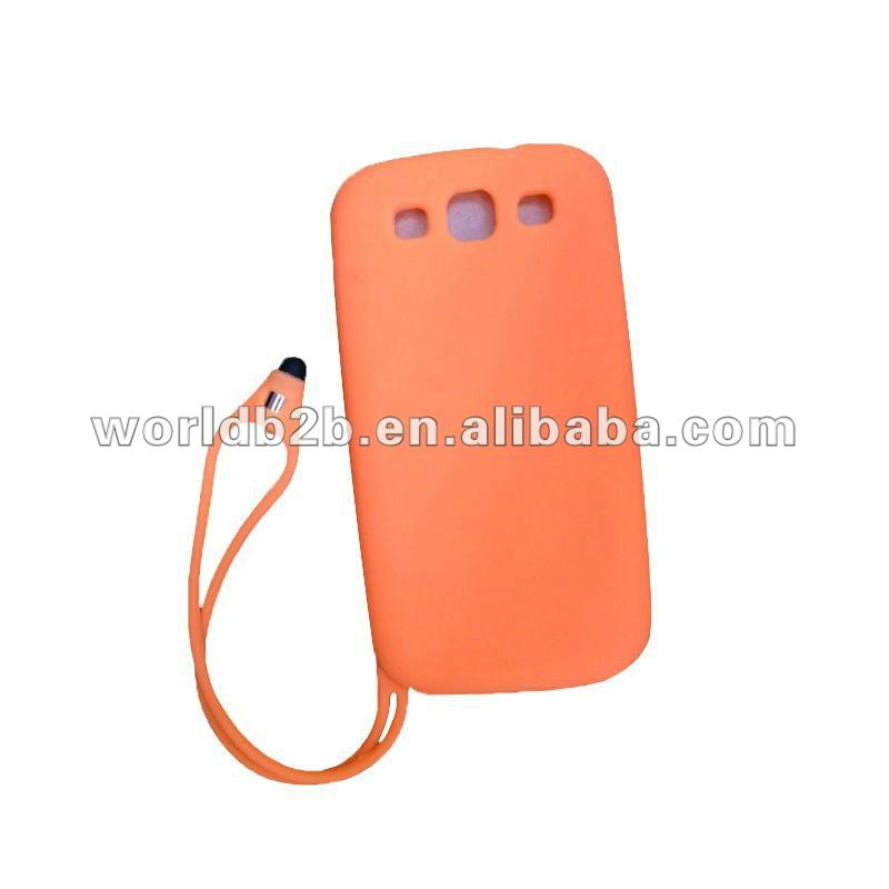 For Samsung Galaxy S3 I9300 case with stylus touch pen,New Design Soft Abrasion silicon case for Samsung Galaxy S3 I9300