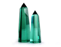 Wholesale Natural Green Glass quartz power crystal wand points,crystal craft for home decor #DOI