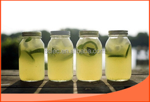 plain glass juice / jam / honey / pickle storage mason jar with metal lid
