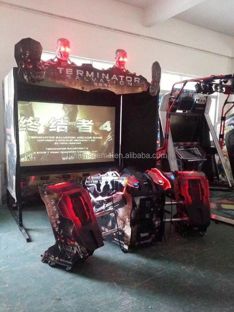 gun simulator shooting game machine / arcade shooting game machine Terminator salvation