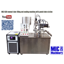 MICmachinery MIC-R60 comform CE standard plastic sealing machine for tube filling and sealing