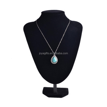 Vintage Turquoise Waterdrop Stone Cage Pendant Necklace Silver Plated Chain Necklace Jewelry