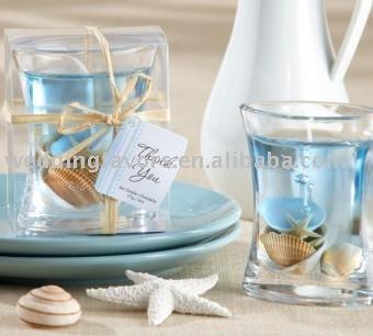 Sea Shell Gel Candle Wedding Favors