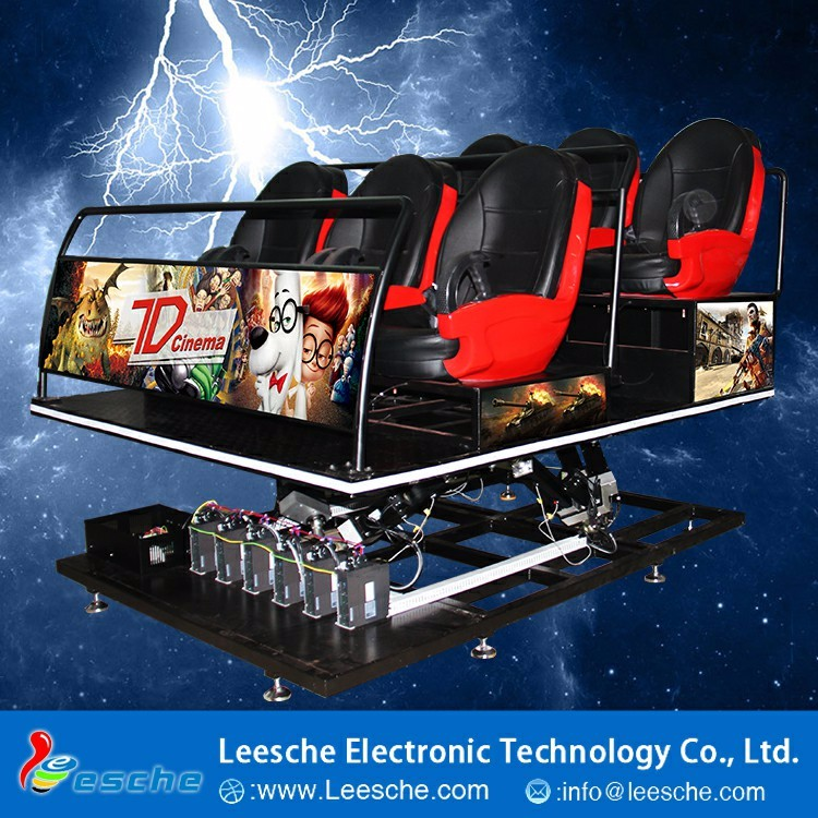 2017 Hot Sale Dinosaur Game Latest Popular Motion Simulator 5D 6D 7D Xd Cinema