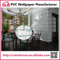 new design home decorative brick wall paper on wholesale