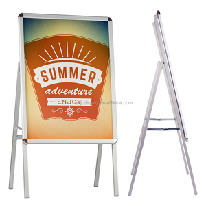 Advertising Portable Aluminum A Board Frame Poster Display Stand
