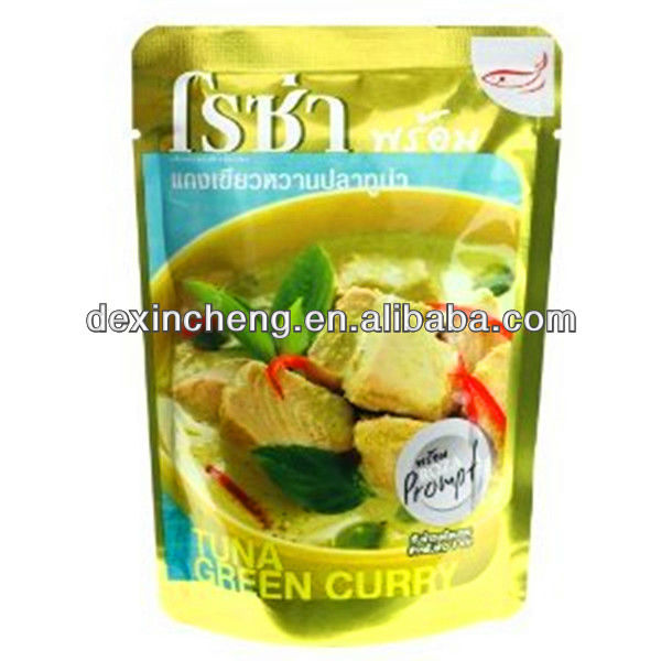 Retortable Aluminum foil Packaging Bag In Stand Up Form For Wet Food Packaging