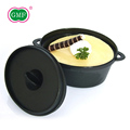 Black easy clean plastic food dessert container with lid
