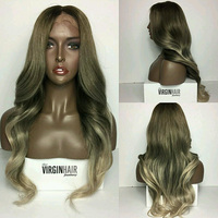 Qingdao factory cheap colourful party wigs wavy lace wig hair with baby hair