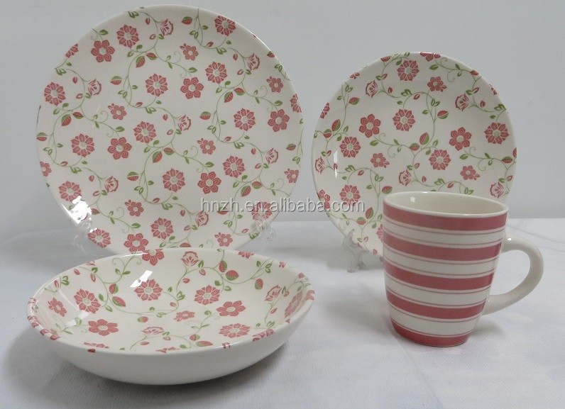 Chinese latest 18pieces dinner set printing by machine
